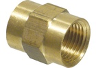 Brass Coupler - 1/2 in.