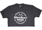 MoreBeer!® Absolutely Everything - Charcoal T-Shirt