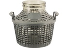Glass Demijohn - 1.3 G (5 L) - Wide Mouth With Plastic Basket