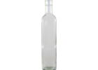 500 mL Clear Square Sided Glass Bottles- Case of 12