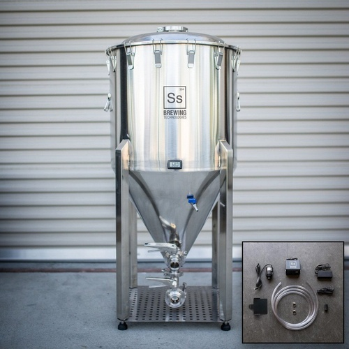 Ss BrewTech Chronical Fermenter Brewmaster Edition with FTSs Chilling Package - 1 bbl