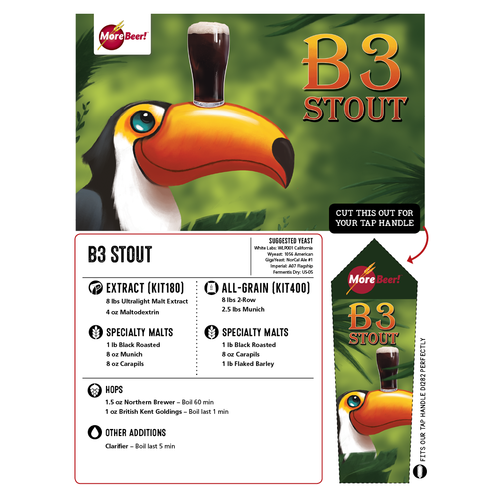 B3 Stout - All Grain Brewing Kit (5 Gallons)