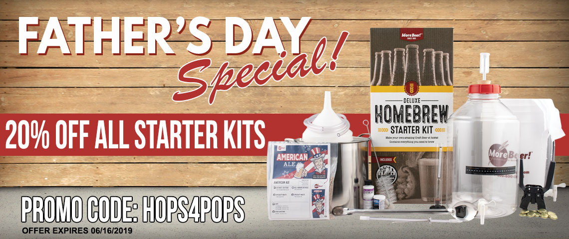 Father's Day Special - 20% Off Homebrewing Starter Kits!