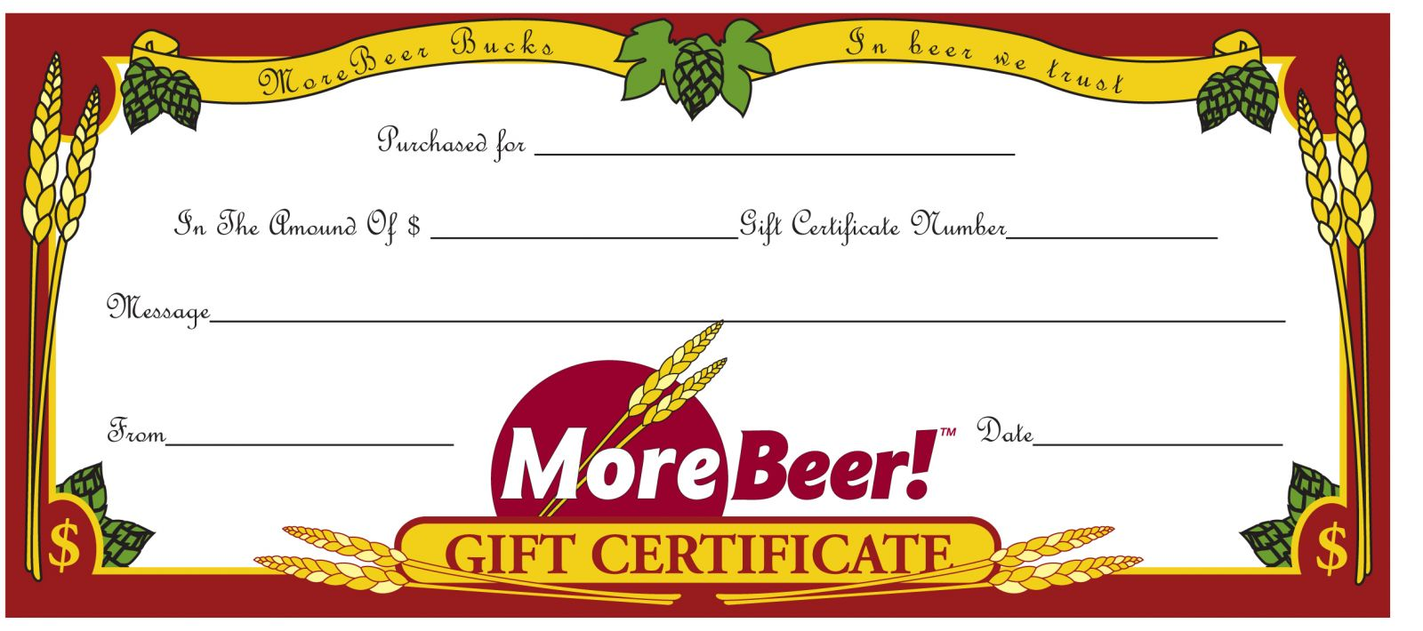 holiday gift certificate landing page morebeer gift certificate print a copy or email it directly to the recipient